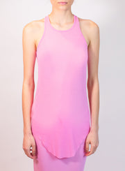 RICK OWENS | Basic Rib Tank in Pop Pink