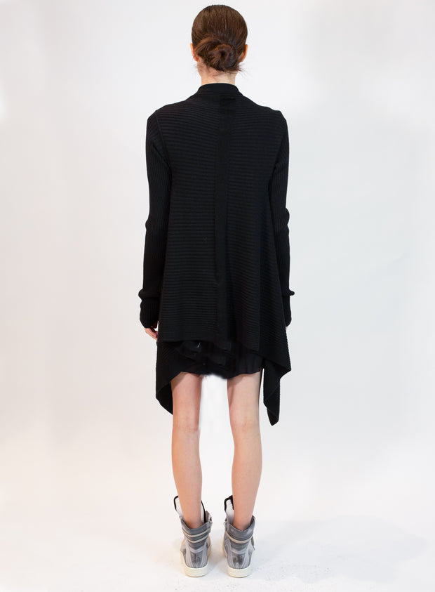 RICK OWENS | Medium Wrap Cardigan in Black