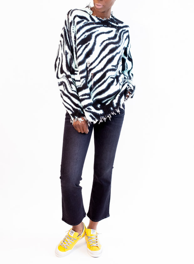 R13 | Blue Zebra Oversized Sweater