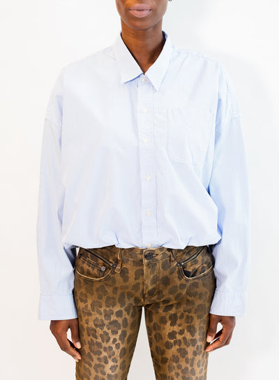 R13 | Gathered Hem Shirt