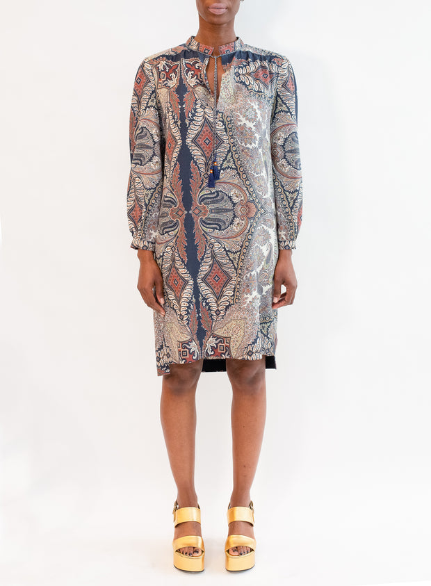 ETRO | Long Sleeve Print Dress