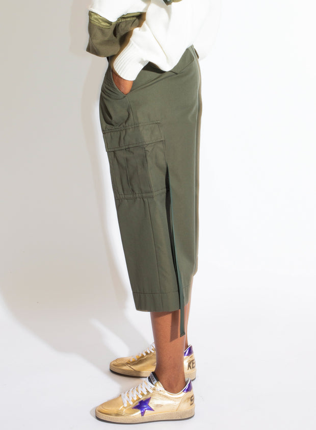 SACAI | Cargo Pocket Cropped Trousers