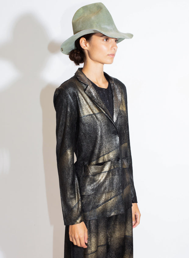 AVANT TOI | Ribbed Velvet Rever Jacket with Futurist Lamination