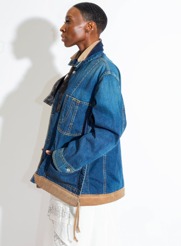 SACAI | Denim Layered Shirt