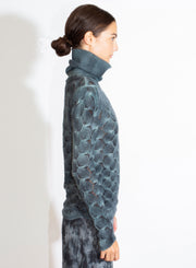 AVANT TOI | High Neck Pullover with Fan Stitch