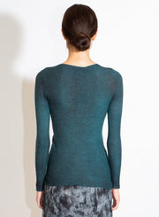 AVANT TOI | Laminated Pullover with Studs in Pavone
