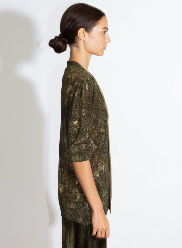 AVANT TOI | Bow Pullover with Camo Effect in Olive