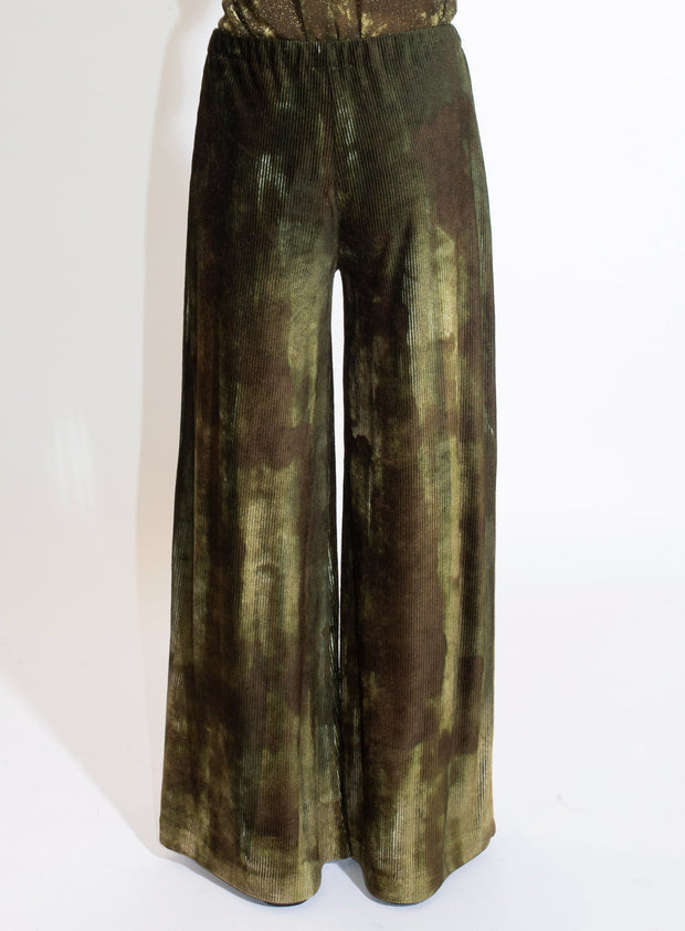 AVANT TOI | Ribbed Velvet Trouser in Olive