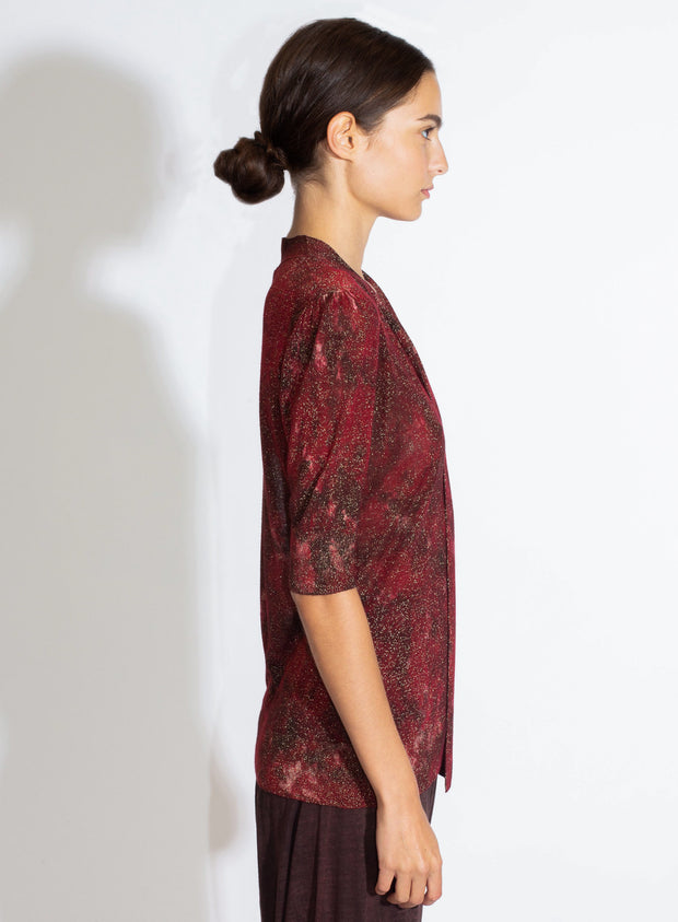 AVANT TOI | Bow Pullover Camo Effect in Wine