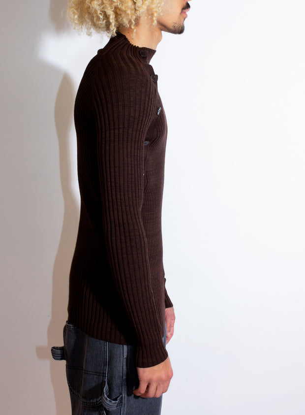 MM6 | Turtleneck Ribbed Sweater
