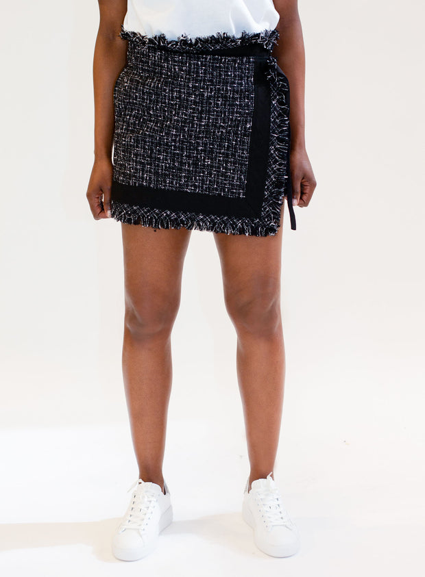 SACAI | Tweed Frayed Skort