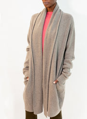 FRENCKENBERGER | Felted Cashmere Straight Cardigan in Mole