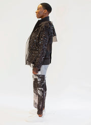 SACAI | Sequin Organdy Deconstructed Jacket