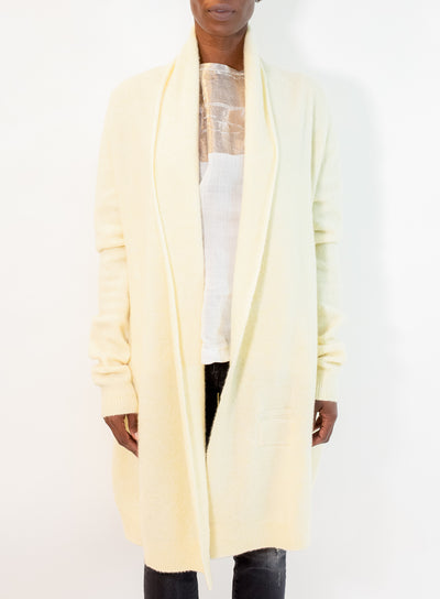 FRENCKENBERGER | Felted Cashmere Straight Cardigan in Lemon
