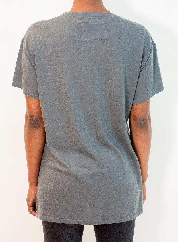 FRENCKENBERGER | Thin Cashmere Normal T-Shirt in Dark Gray