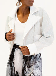 STELLA MCCARTNEY | Perforated Leather Jacket in Off-White