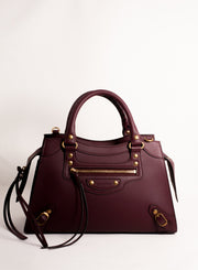 BALENCIAGA | Neo Classic City Satchel in Burgundy