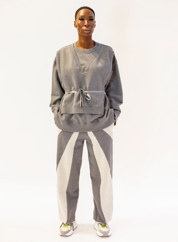 MM6 MAISON MARGIELA | Long Sleeve Bib Sweatshirt