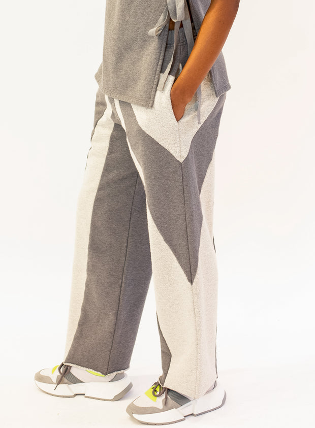 MM6 MAISON MARGIELA | Two Tone Grey Sweatpants