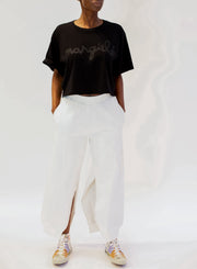 MM6 MAISON MARGIELA | Slit Detail Track Pants in White