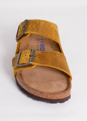 BIRKENSTOCK | Arizona Soft Footbed Sandal in Ochre