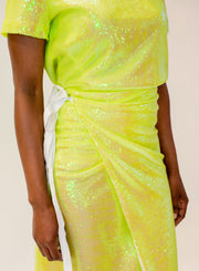 MM6 MAISON MARGIELA | Iridescent Sequin Midi Skirt