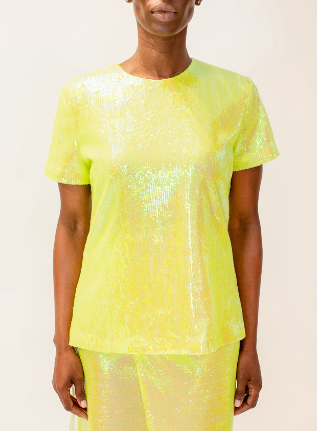 MM6 MAISON MARGIELA | Iridescent Sequin Top