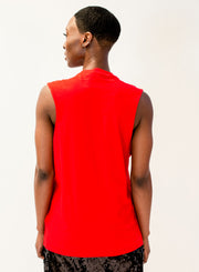 GOLDEN GOOSE DELUXE BRAND | Logo Print Tank Top in Red
