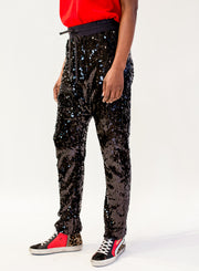 R13 | Sequin Field Sweatpants in Black