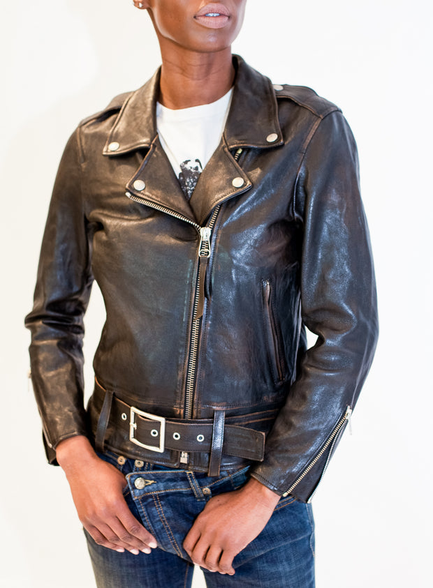 "GOLDEN GOOSE | Painted ""Summer Tour"" Leather Jacket"