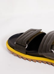 DRIES VAN NOTEN | 2 Strap Sandal in Olive