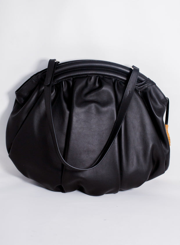 RODO | Millie Ruched Soft Large Clutch in Black