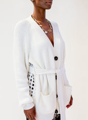 N°21 | White Crochet Perforated Cardigan