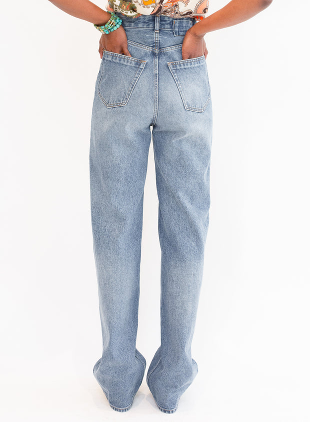 MM6 by MAISON MARGIELA | Straight Leg 5 Pocket Jean in Vintage Wash