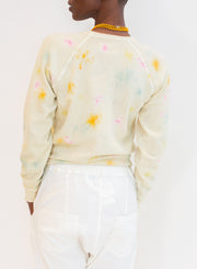 THE GREAT | Shrunken Sweat Shirt in Confetti Tie Dye