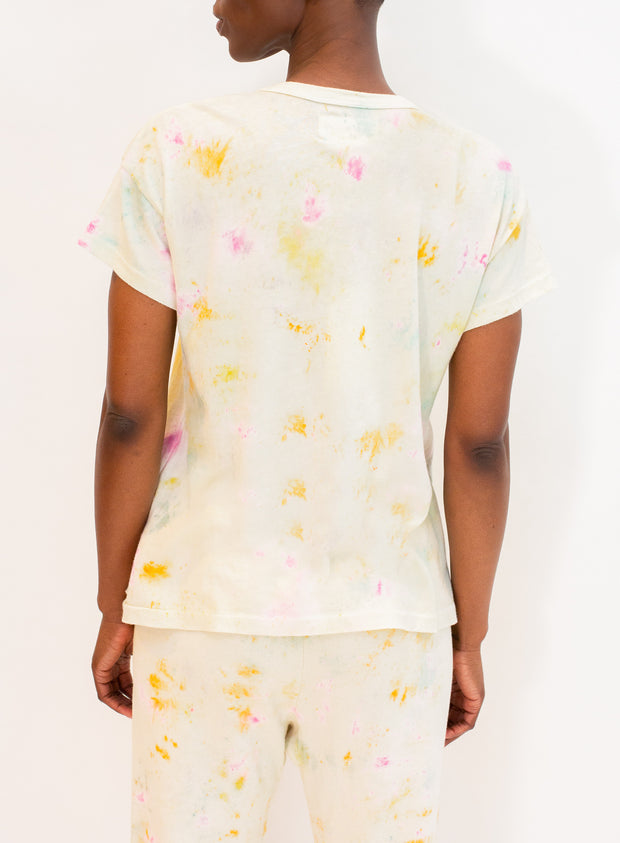 THE GREAT | The Boxy Crew in Confetti Tie Dye