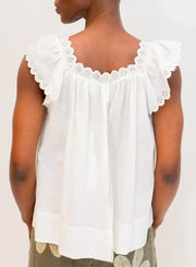THE GREAT | The Eyelet Keepsake Tank in White