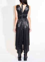 NORMA KAMALI | Goddess Dress in Dark Silver