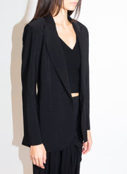NORMA KAMALI | Single Breasted Blazer in Black