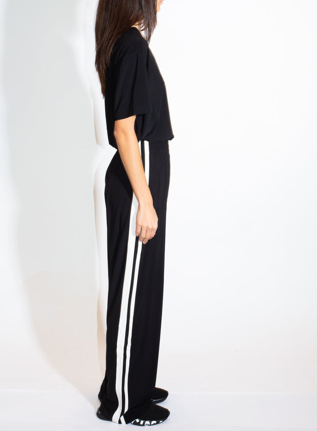 NORMA KAMALI | Boyfriend Side-Stripe Sweatpant