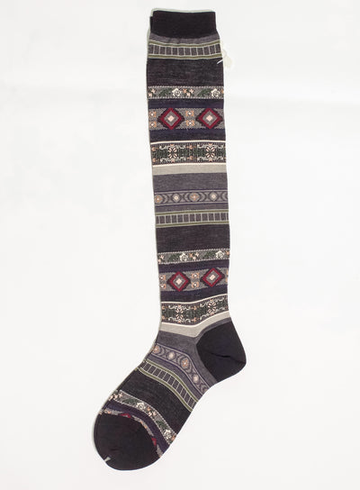 ANTIPAST | Tyrolean Stripe High Sock in Dust