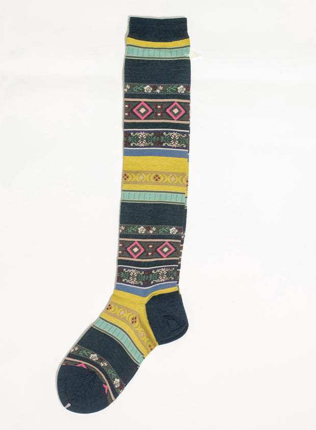 ANTIPAST | Tyrolean Stripe High Sock in Green