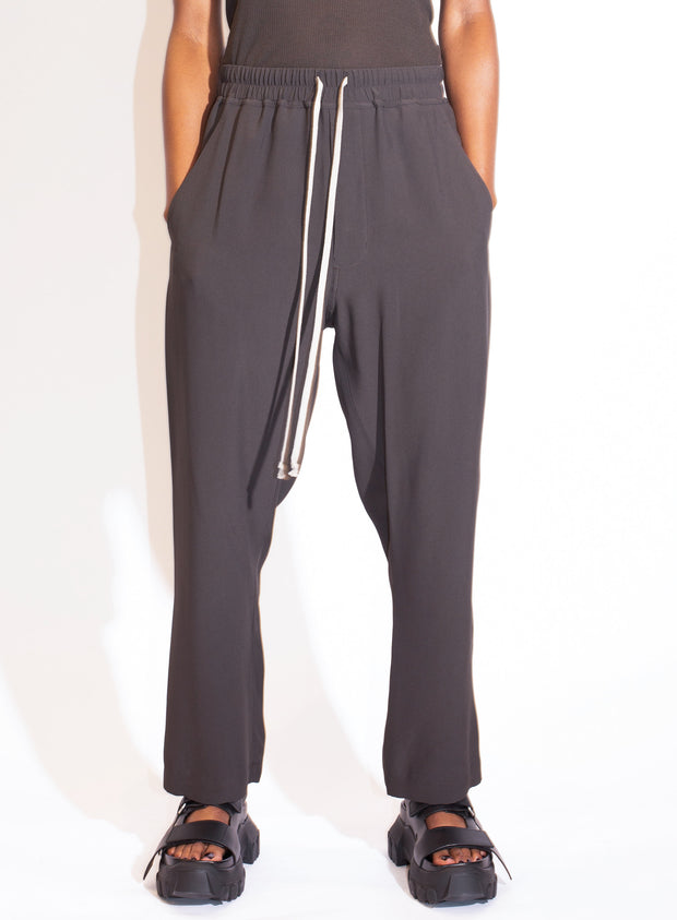 RICK OWENS | Slim Drawstring Pant in Dark Dust