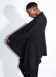 RICK OWENS | Medium Wrap Cardigan in Dark Dust