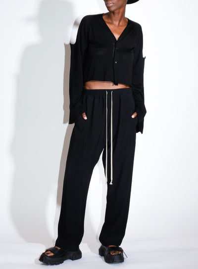 RICK OWENS | Slim Drawstring Pant in Black