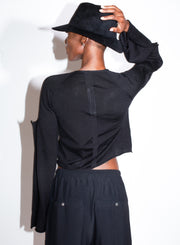 RICK OWENS | Flanged Cardigan in Black