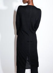 RICK OWENS | V Neck Snap Cardigan in Black