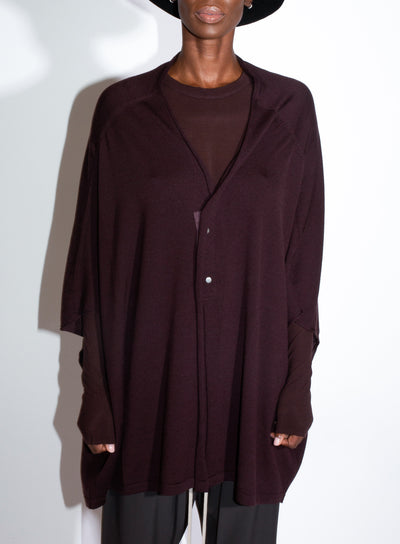 RICK OWENS | Knit Cardigan in Burgundy