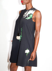 N°21 | Black Keyhole Dress with Flowers