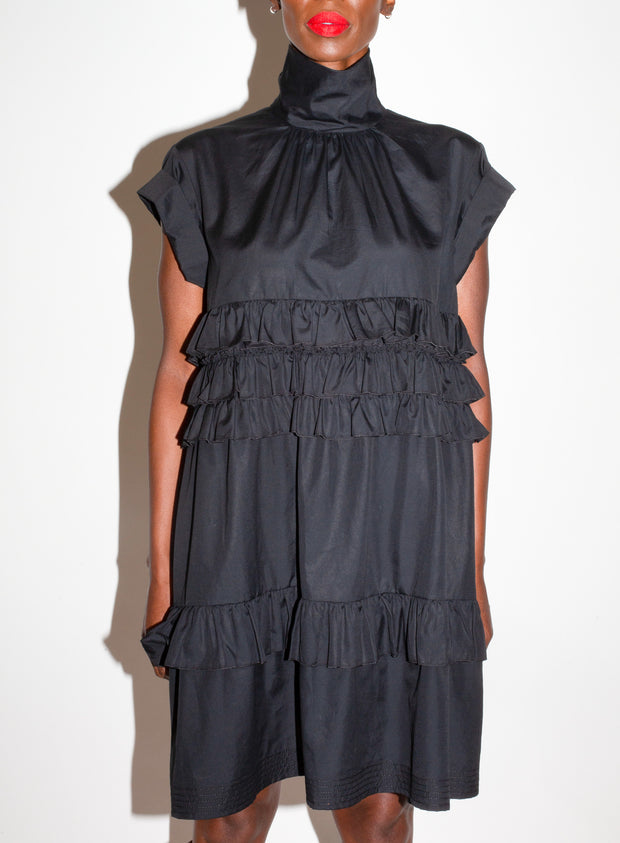 N°21 | Ruffle High Neck Babydoll Dress
